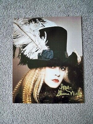 Stevie Nicks Hand Signed 8 X 10 Color Photo / Coa