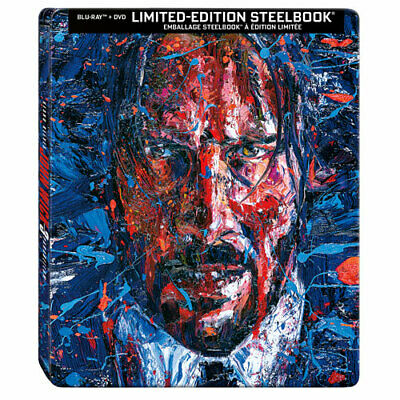 John Wick: Chapter 3 - Parabellum [SteelBook] [Blu-ray+DVD] New and Sealed!!!
