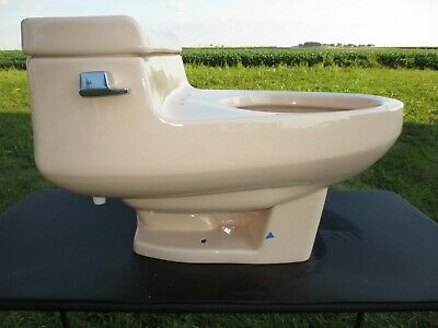 Vtg ELJER WINDSOR Design Toilet Quiet Flush Late Mid Century Modern Gently Used