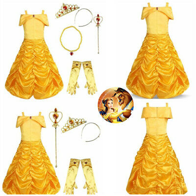 Kids Baby Girls Costume Princess Fairy Tale Dress Up Cosplay Fancy Party Outfits