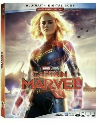 Captain Marvel (Blu-ray ) Brie Larson Bluray New. Fast Free Shipping.
