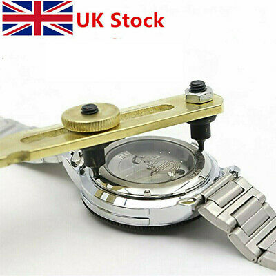 UK-Watch Repair Tool Kit Back Case Opener Battery Change Remover Screw Wrench