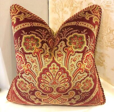 ACCENT PILLOW 18 X 18, PAISLEY PRINTED VELVET BY Ralph Lauren  Fabric
