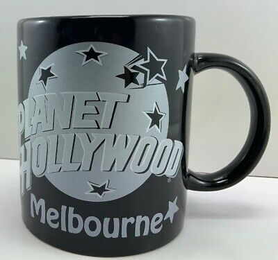 Collectable Planet Hollywood - MELBOURNE - Black Silver Coffee Mug