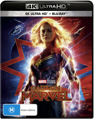 Captain Marvel (4K UHD/Blu-ray)  - BLU-RAY - NEW Region B