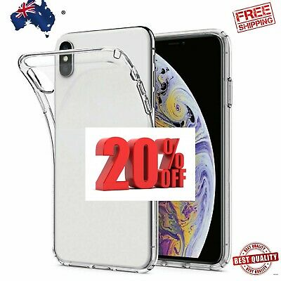 iPhone X XS Max XR Case Ultra Heavy Duty Shockproof Clear Slim Cover