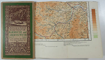1929 Old OS Ordnance Survey Half-Inch Map Layers Lge Sht 15 Barmouth Aberystwyth