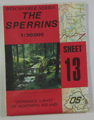 1991 OS Ordnance Survey N Ireland 1:50 000 Discoverer Series Map 13 The Sperrins