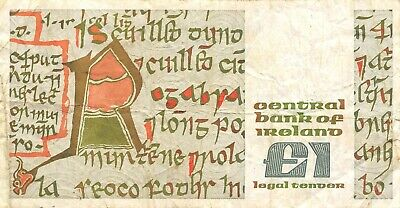 Ireland  1  Pound   22.04.1987   Series  CCJ  Circulated Banknote MeaEX2