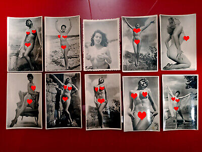 Collection of Original Vintage Photo Pin Up Nude Female Woman Glamour Girl Pinup