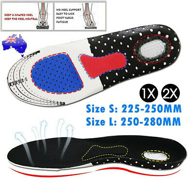 Arch Support Shoe Insoles Pain Relief Plantar Fasciitis Orthotic Inserts Pads