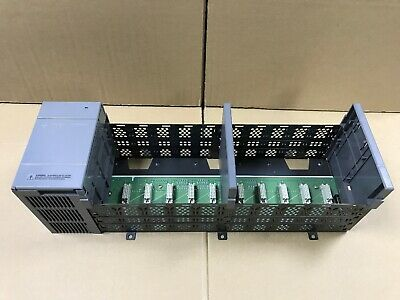 Allen Bradley PLC SLC 500 10-Slot Rack 1746-A10 Series B & Power Supply 1746-P2