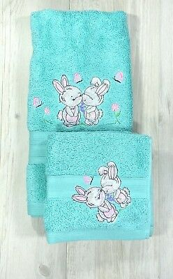 Kids Hand Towel Washer Set Embroidered Baby Childrens Gift Baby Shower C