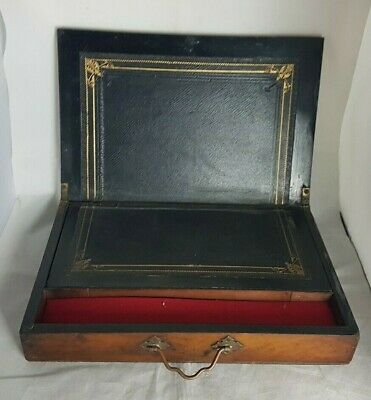 Beautiful Antique Small Thin Wooden Writing Slope (Weight - 1 kg)