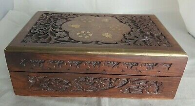Beautiful Vintage Wooden Storage Box (Width - 20 cm)