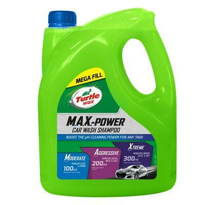 Turtle Wax 53284 M.A.X. Power Car Wash Shampoo Car Care Removes Car Wax 4L