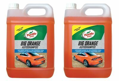 Turtle Wax Big Orange Car Shampoo Cleans with Streak Free Finish 2 x 5 Litre