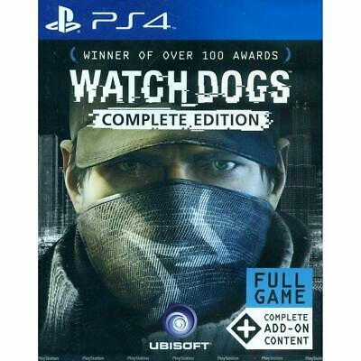 Watch Dogs Complete Edition Game PS4 Playstation 4