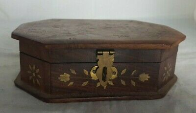 Beautiful Vintage Wooden Storage Box (Width - 15.5 cm)