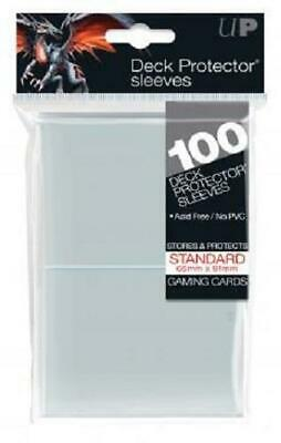(100) *NEW* ULTRA PRO CARD SLEEVES Clear Deck Protectors MTG Magic Standard Size