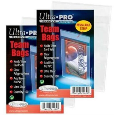 200 Ultra Pro Team Set Bags Reseal Sleeves Holder Pack Reusable Adhesive #81130