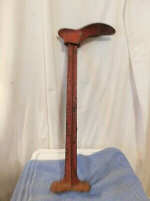 ANTIQUE VINTAGE CAST IRON SHOE COBBLER MAKING & REPAIR MOLD STAND FORM (set 2)