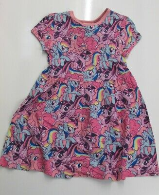 MY LITTLE PONY Girls Pink Graphic Character Dress 3-4 Years BNWT