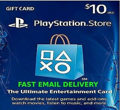 10$ PSN playstation store gift Card  For  PSP Vita Ps4 Ps3 🔥 Fast Delivery 🔥