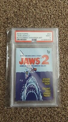 PSA Graded 9 2018 Topps 1978 JAWS 2 80th Anniversary Wrapper Art
