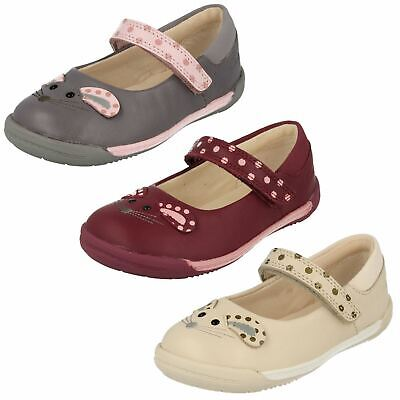 Girls Toddler Clarks Iva Pip Fst Hook & Loop Casual Summer Mary Jane Shoes Size