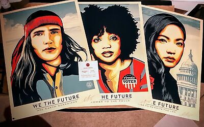 We The Future Set | Signed & Numbered Prints | Shepard Fairey | Amplifier | Obey