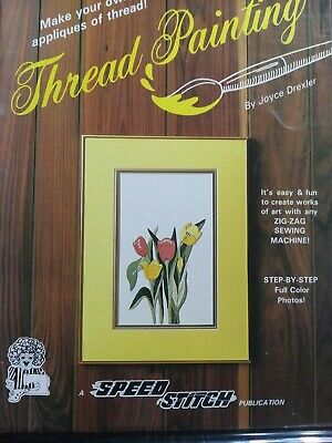 1983 Thread Painting By Joyce Dexler Rare Teaching Booklet Embroidery