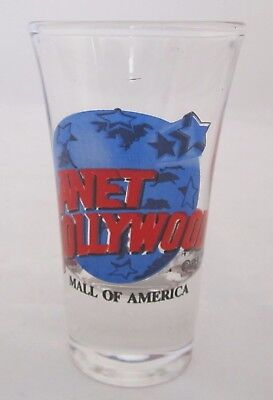 Original PLANET HOLLYWOOD MALL of AMERICA 1.5 oz Shot glass Collectable