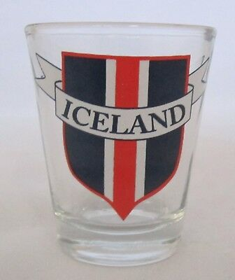 ICELAND COAT of ARMS 1.5 oz Shot glass