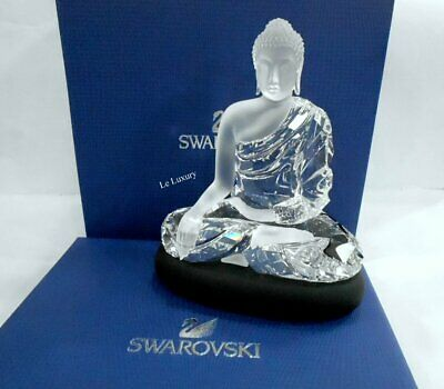 Swarovski Buddha, Large on matt Black Crystal Base Authentic MIB 5099353