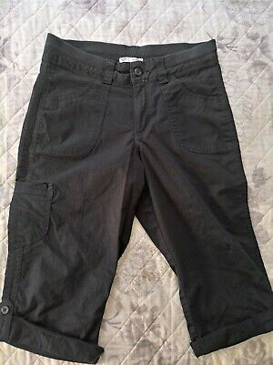 RIDERS by LEE CARGO MID RISE SKIMMER CAPRI BLACK PANTS Sz 10 M pre owned
