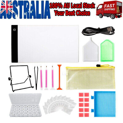 Diamond Painting A4 LED Light Box- 30 Pieces Of Dimmable Board Kit For 5D Artist