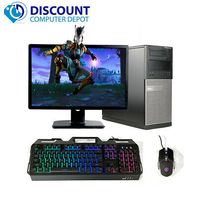 "HP Desktop Computer PC🚩Core i5 16GB 2TB HD 256GB SSD 22"" LCDs🚩Windows 10 Pro"