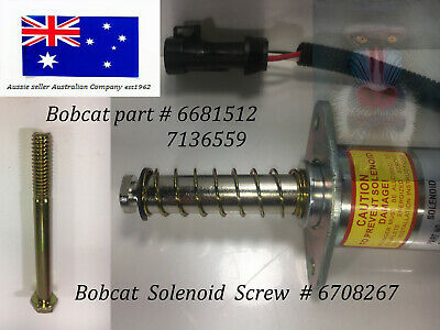 Bobcat TRACTION LOCK Solenoid Assembly 6681512 7136559  Solenoid Screw 6708267