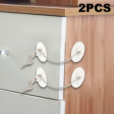 1/2pcs Baby Child Safety Lock Drawer Fridge Cupboard Door Window Locks