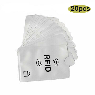 RFID Blocking Card Holder Sleeve Credit Debit Contactless Protector Signal x 20