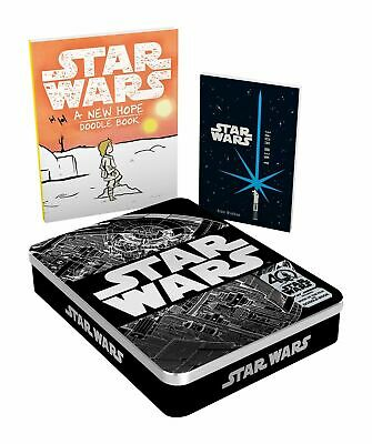 STAR WARS 40th Anniversary Tin  Includes Book of the Film& Doodle Book