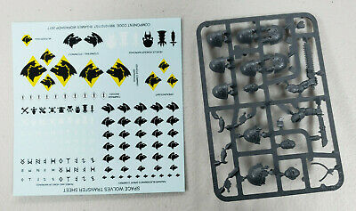 Warhammer 40k Primaris Space Wolves Upgrade sprues and decals Free Shipping