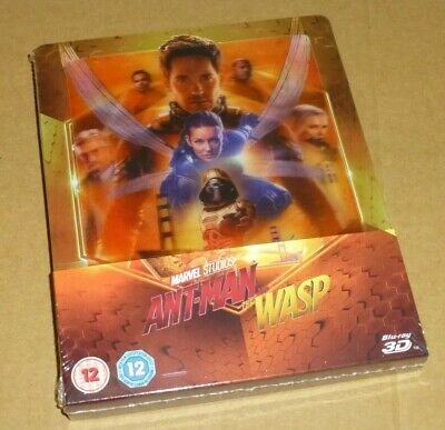 Ant Man & The Wasp : 3D + 2D Blu-ray Lenticular Steelbook, Uk Exclusive, Marvel,