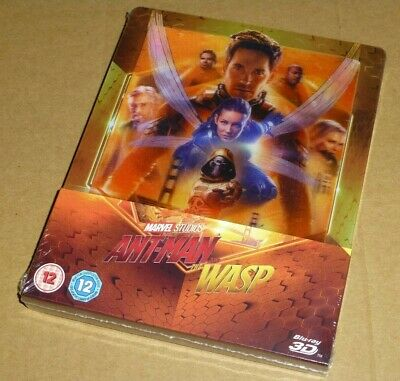Ant Man and The Wasp - 3D + 2D Blu-ray, UK Exclusive LENTICULAR STEELBOOK