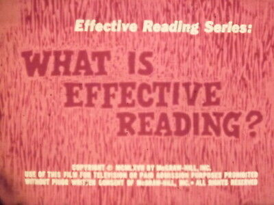 What Is Effective Reading? 1967 16mm short film