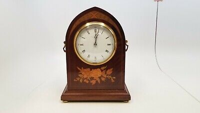 """Marcus & Co. - New York - 8 1/2"""" Tall - Wooden Mechanical - Mantle Clock *As Is*"""