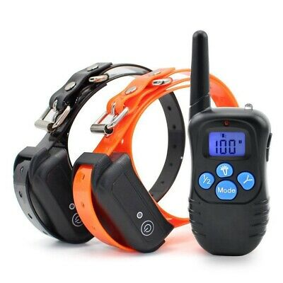 330yard Electric Dog Shock Training Collar Waterproof Rechargeable Pet Trainer