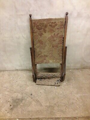 Antique Mahogany Folding Campaign Chair - All Original & Unrestored