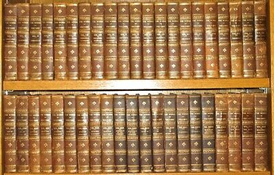 LEATHER Set;Works of VOLTAIRE!(COMPLETE in 42 MASSIVE VOLUMES!) ANTIQUARIAN RARE
